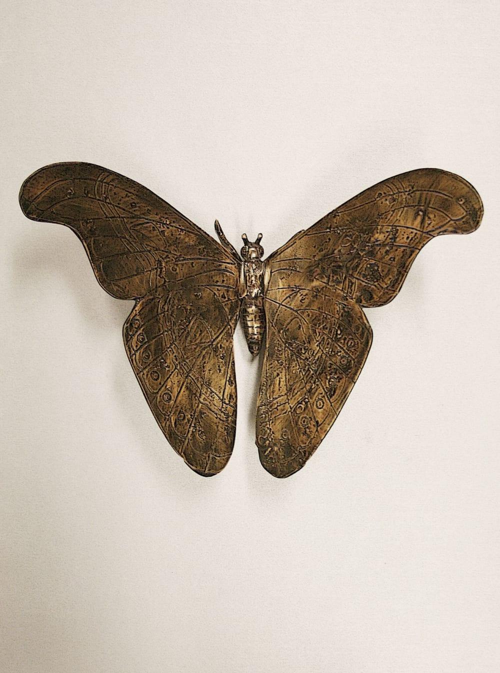 Vlinder van brons