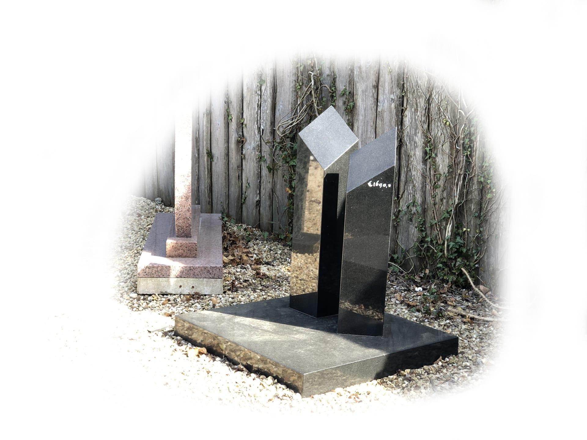 Grafsteen Zwart graniet 39