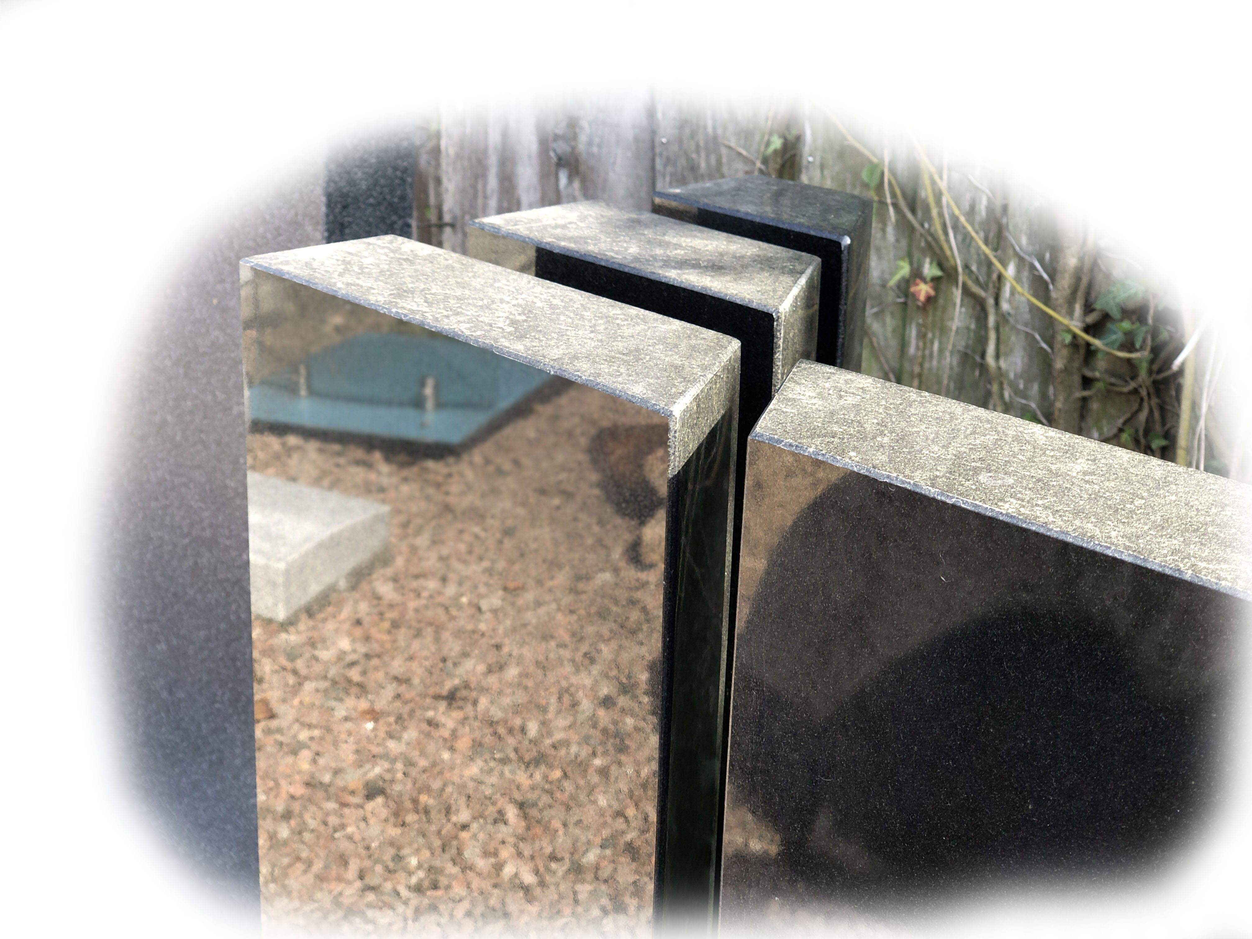 Grafsteen Zwart graniet 76