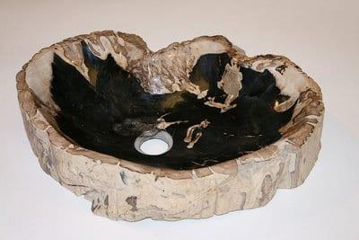 Waskom versteend hout