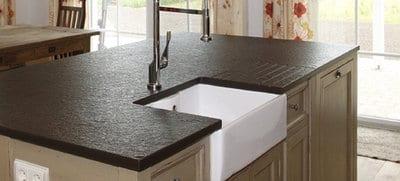 zwart graniet gevlamd geborsteld aanrechtblad hutting. Black Bedroom Furniture Sets. Home Design Ideas
