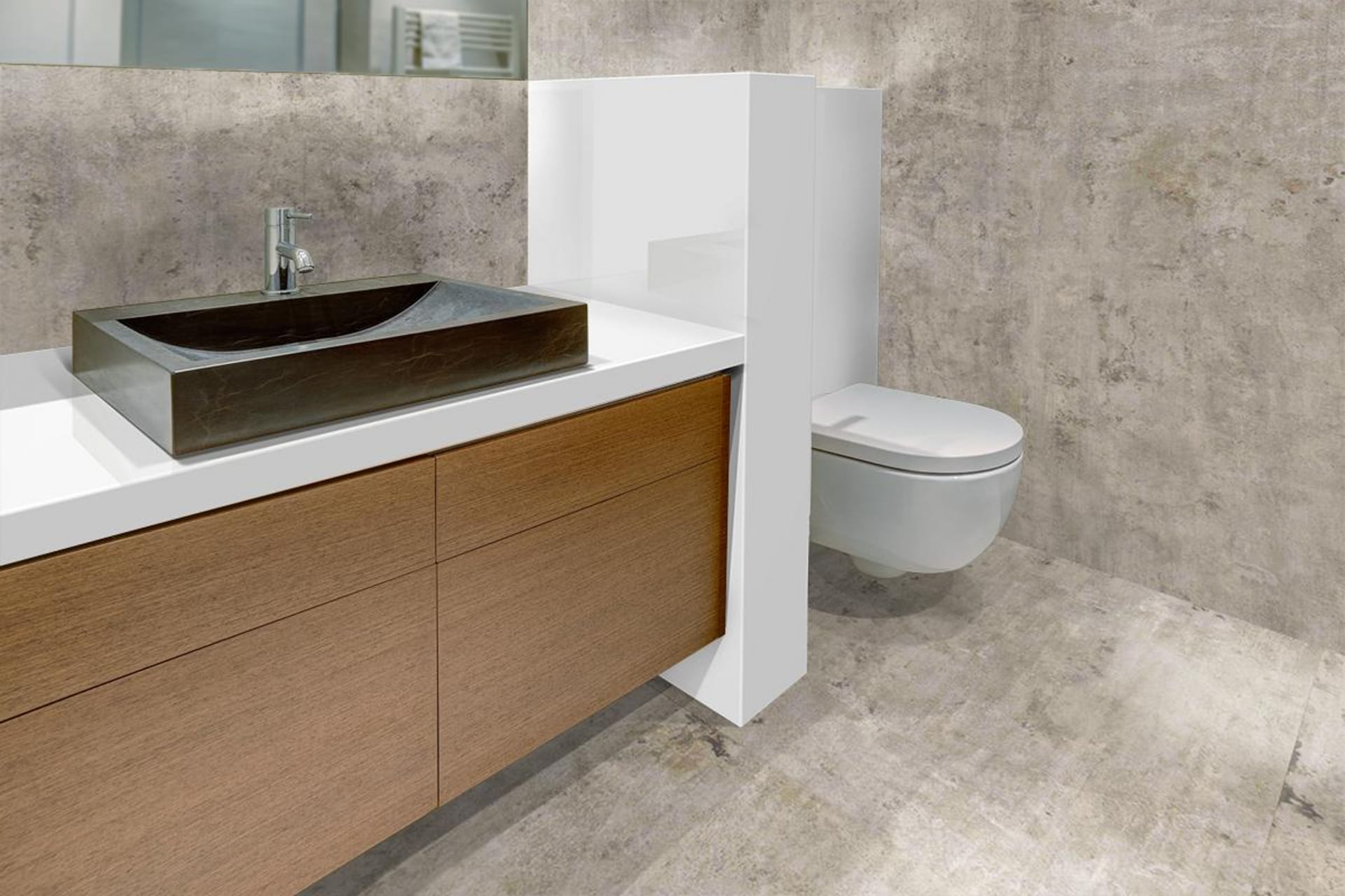 Neolith Concrete Taupe vloer