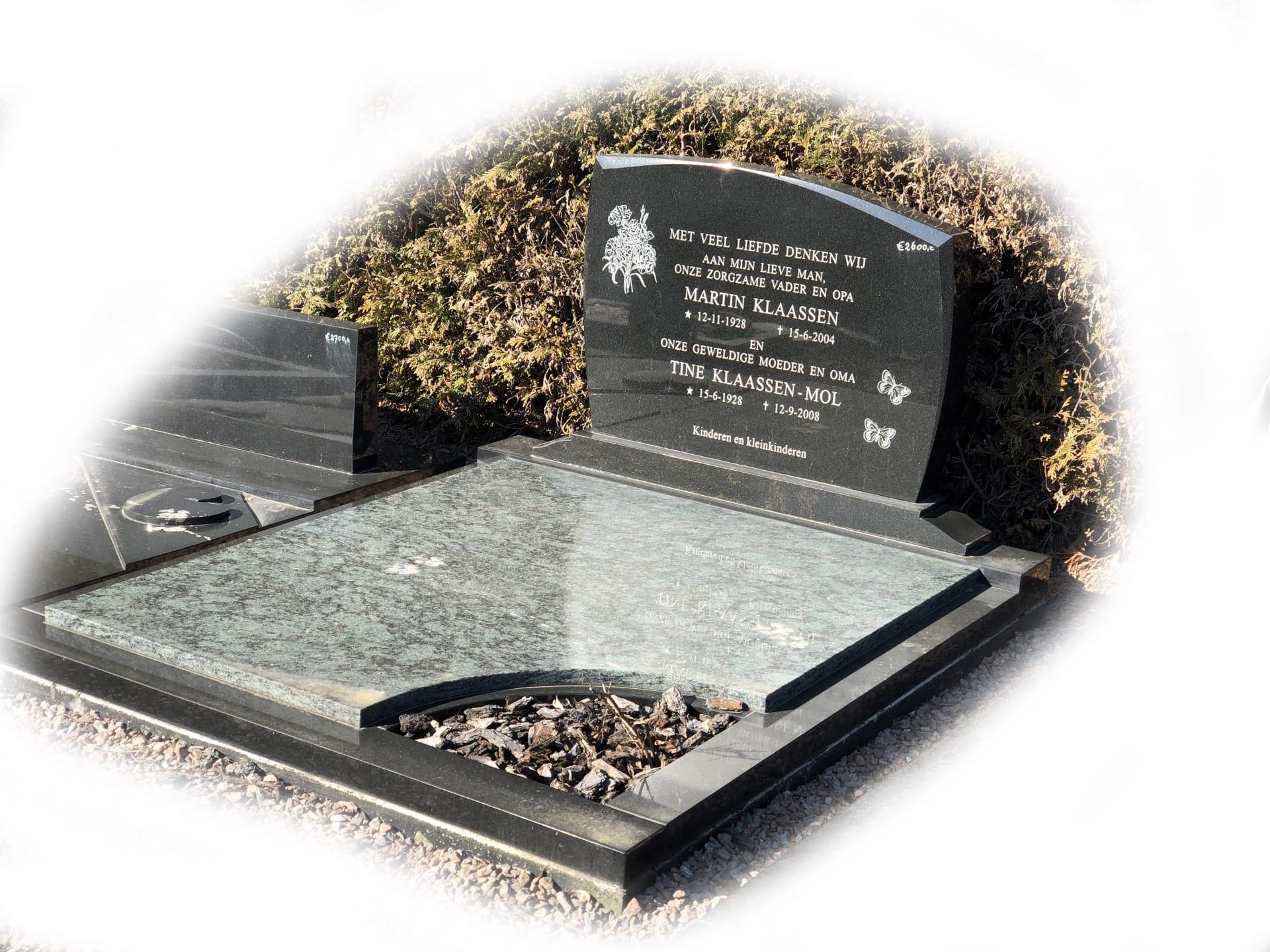 Grafsteen Olive Green graniet 40