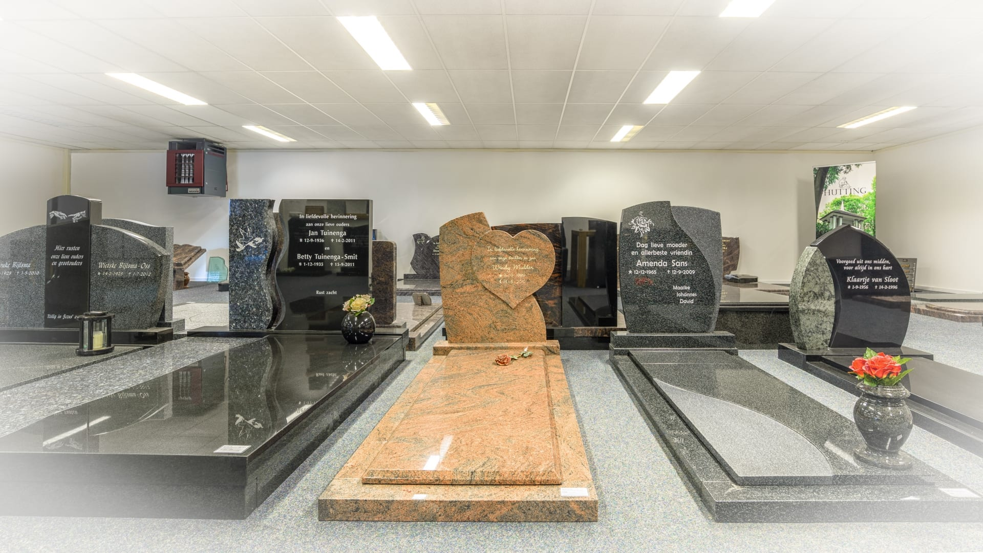Een groot aanbod van grafmonumenten