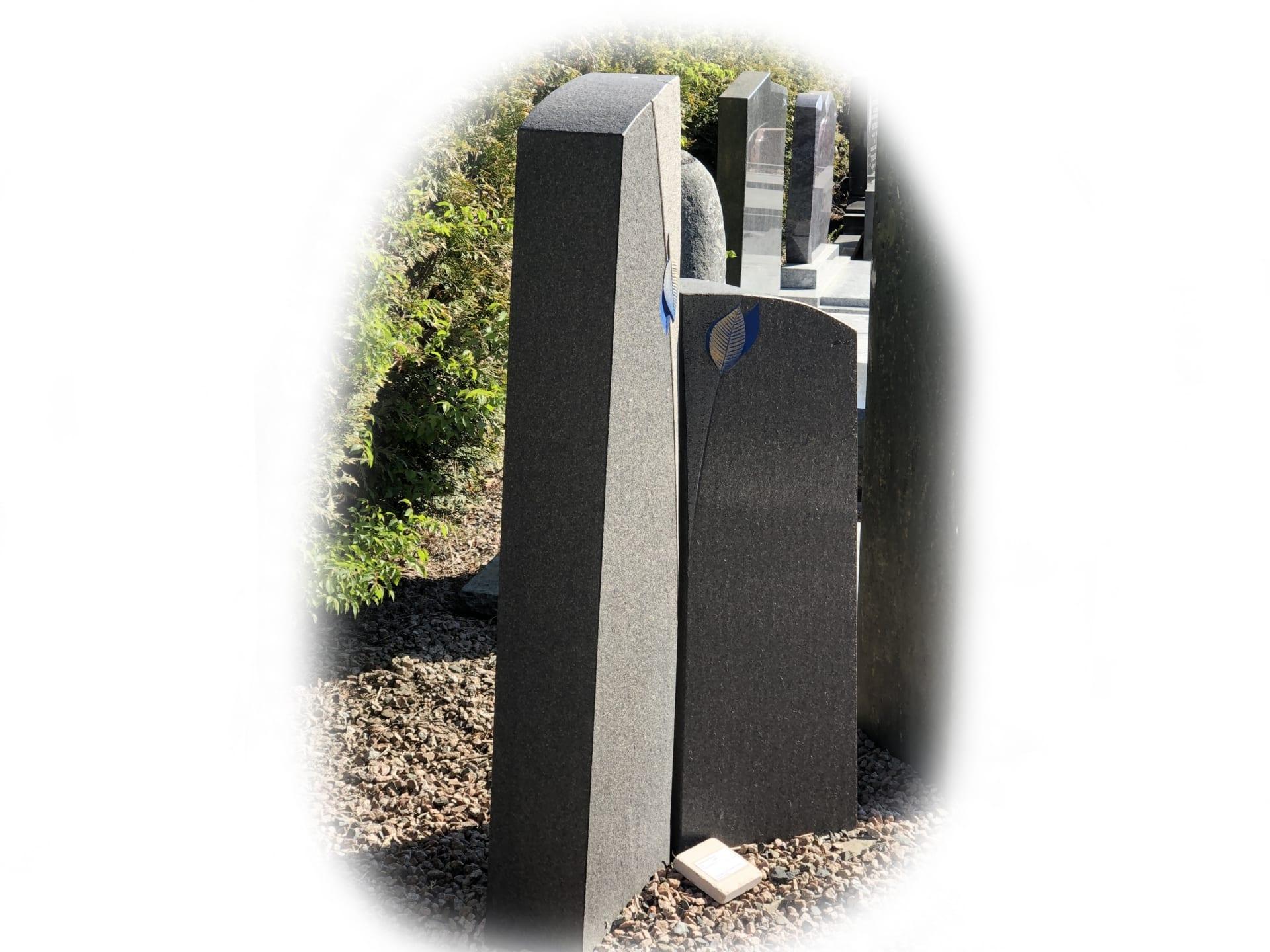 Grafsteen Zwart graniet 3