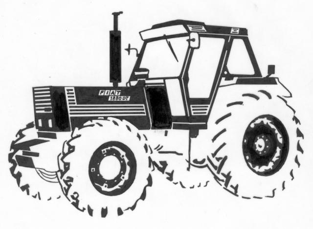 Gezandstraalde afbeelding van een tractor dat mogelijk is op een grafmonument