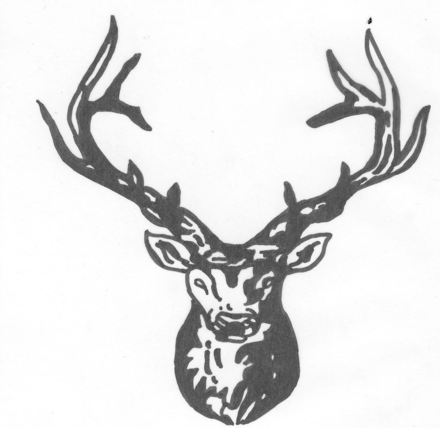 Een afbeelding van een hert die kan worden gezandstraald op een grafmonument