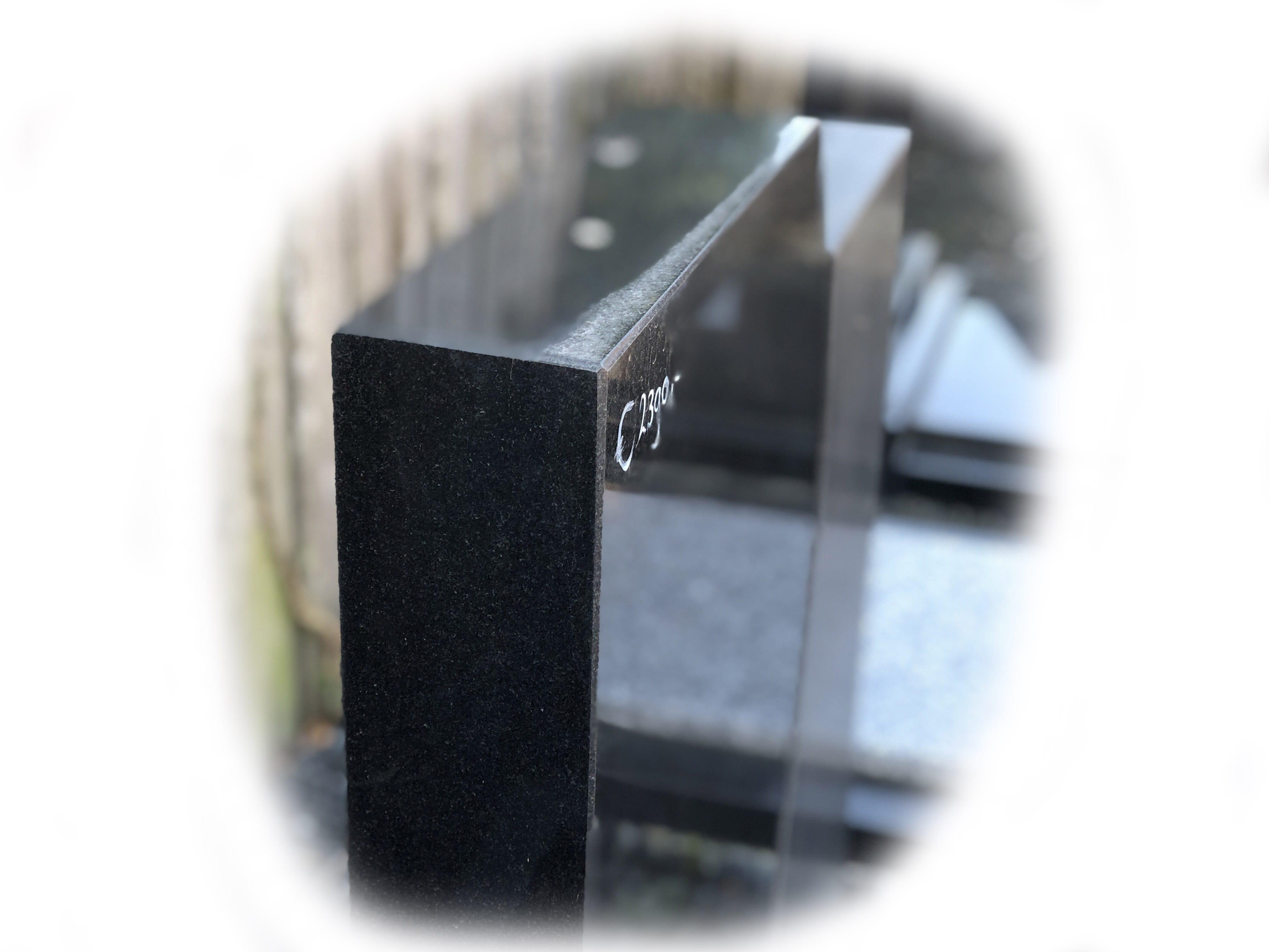 Grafsteen zwart graniet 29