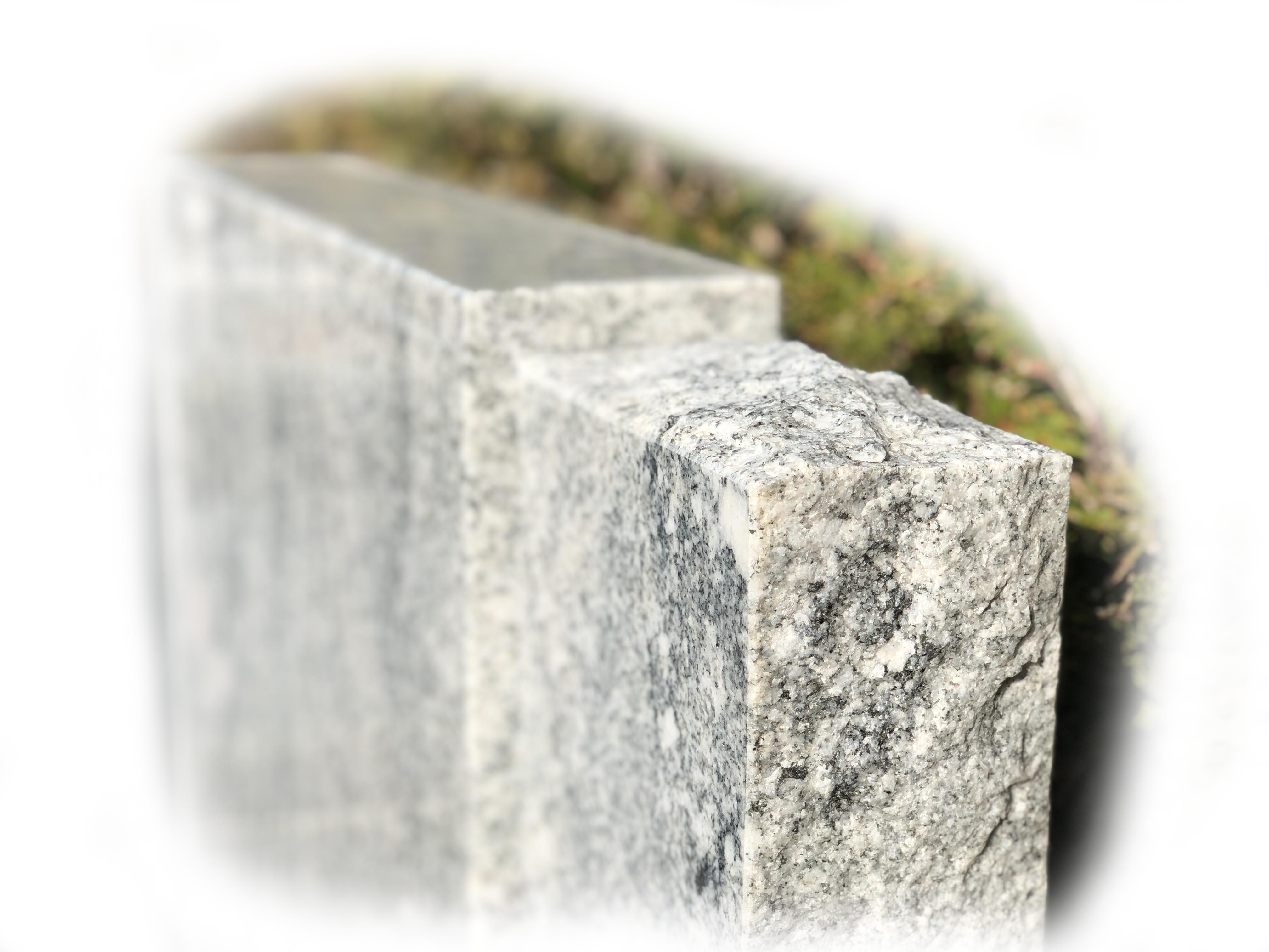 Grafsteen Viscount White en Zwart Graniet 65